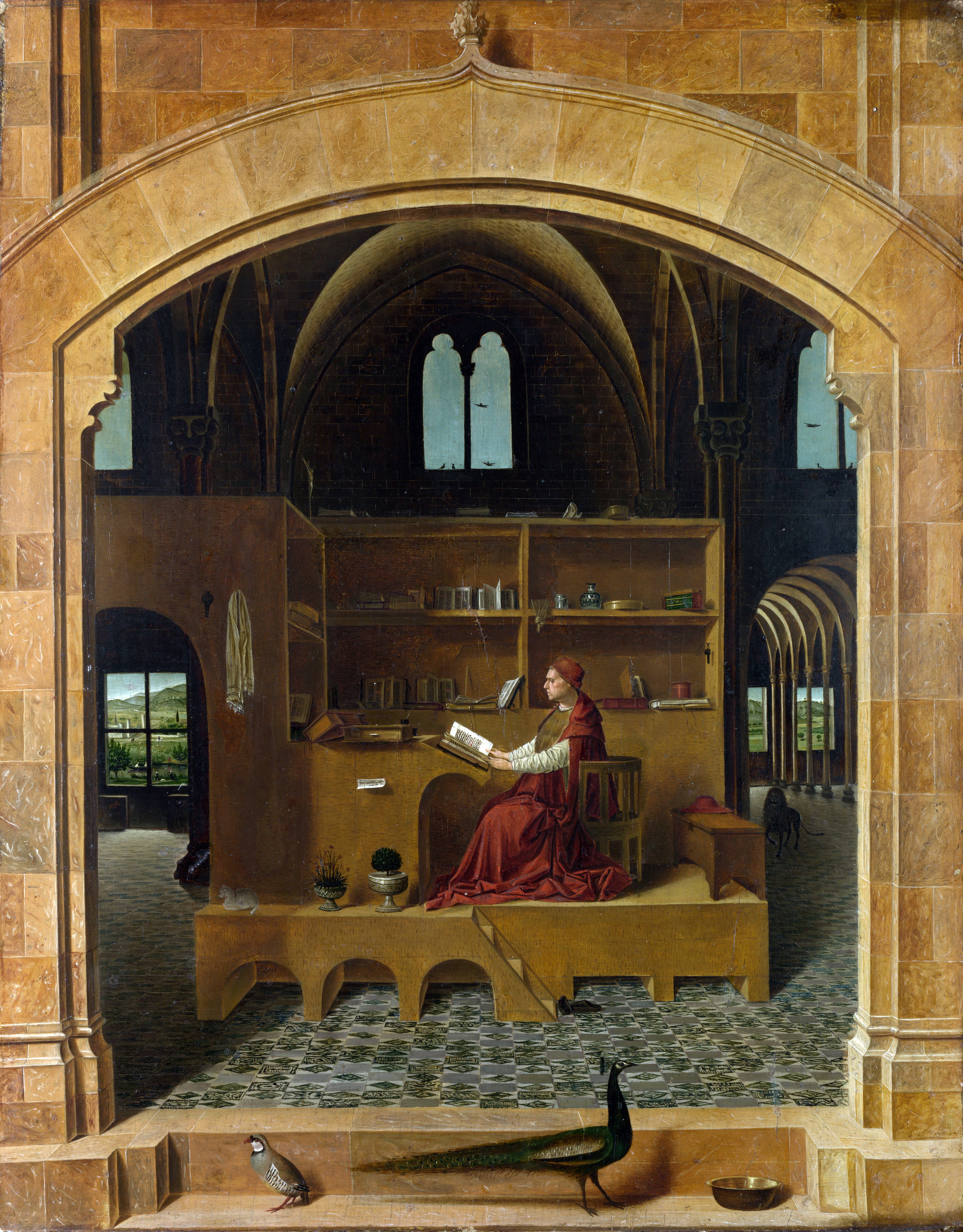 Saint Jerome in his Study Artist: Antonello da Messina Date made: about 1475 Source: http://www.nationalgalleryimages.co.uk/ Contact: picture.library@nationalgallery.co.uk Copyright © The National Gallery, London