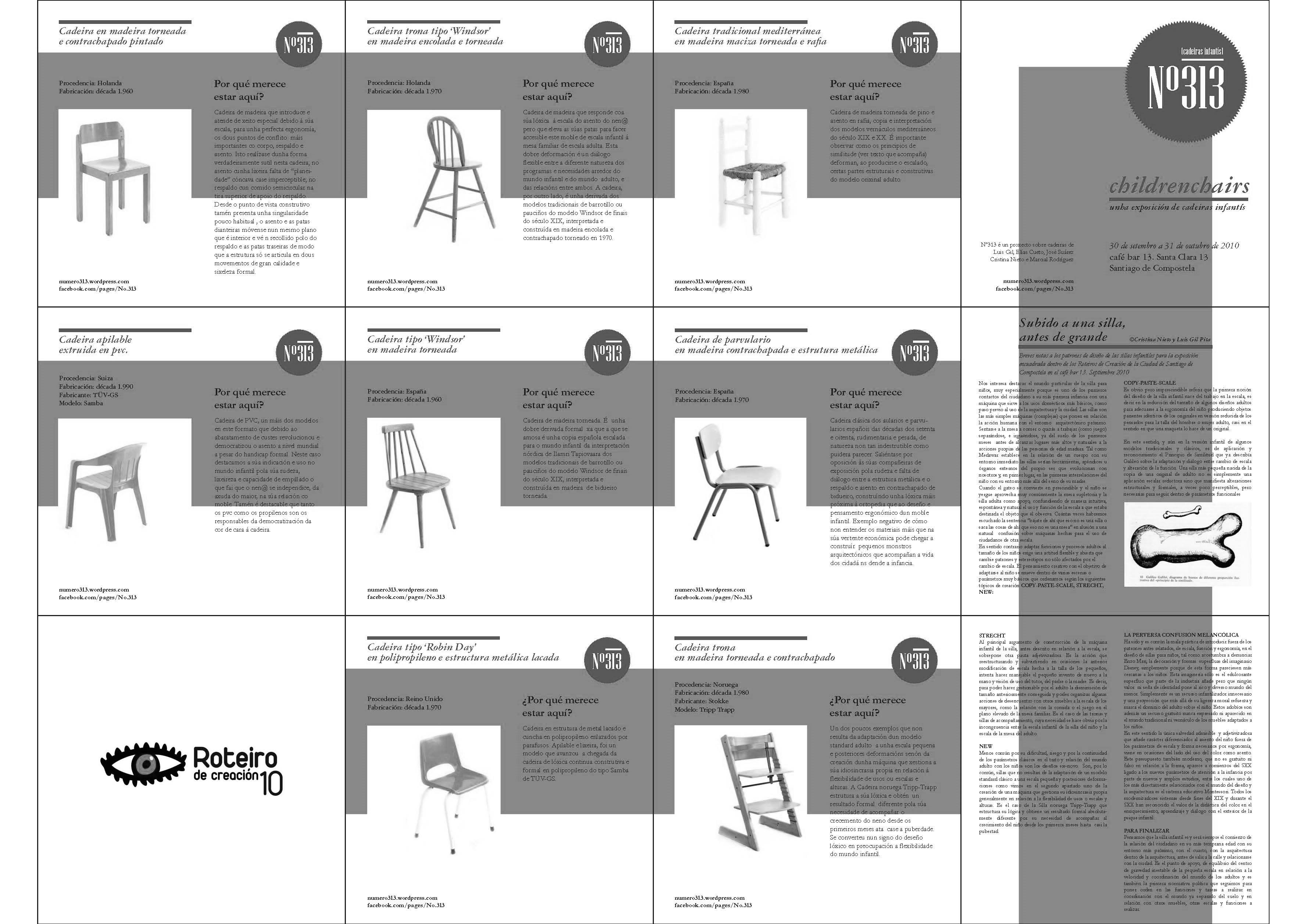"""Exposición sobre el asiento infantil: """"Subido a una silla, antes de grande"""""""